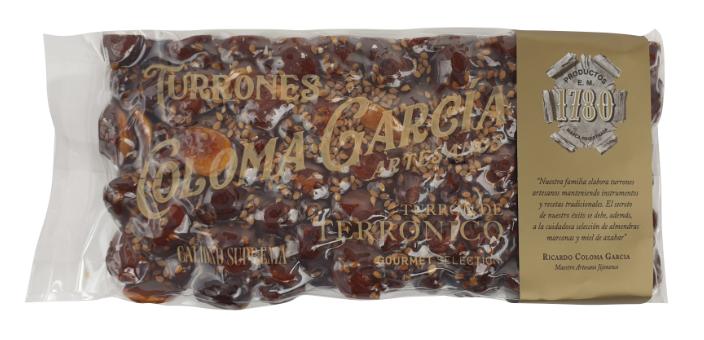Turrón Terronico Gourmet - Nougat noir - 200gr