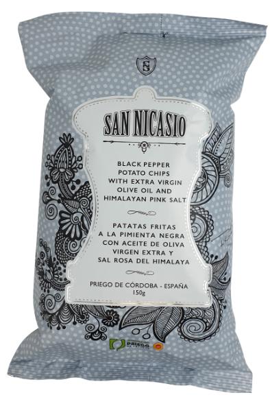 Chips de pommes de terre aupoivre noir 150g