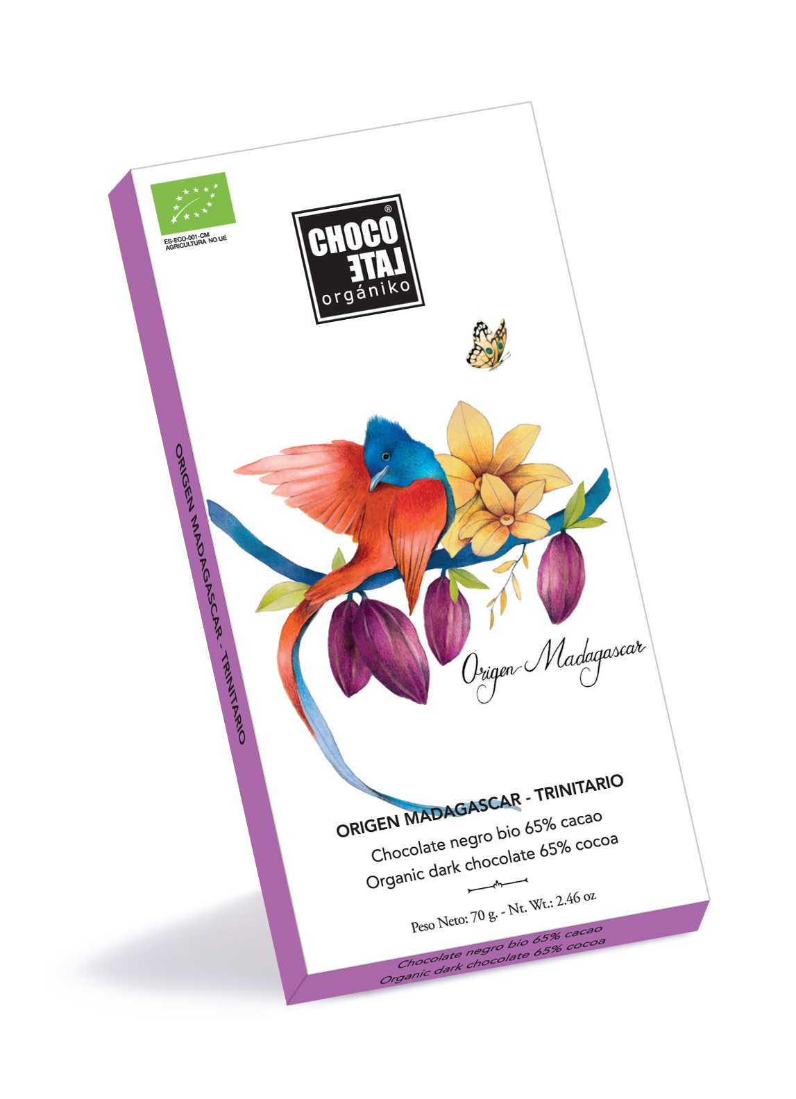 Organic dark chocolate 65% cocoa - Madagascar grand cru