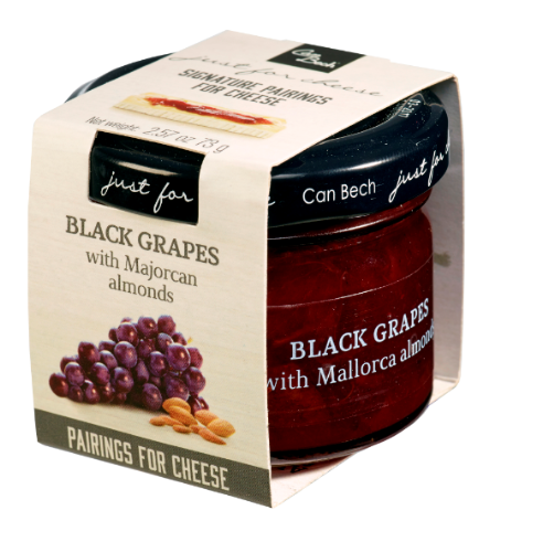 Black grape and almonds jam